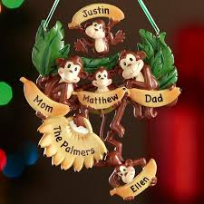 personalized monkey family ornament 5 monkeys walmart