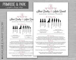 Wedding Programs Images Fun Wedding Programs Etsy