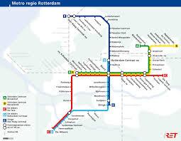 rotterdam netherlands metro map rotterdam metro map
