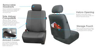 3 row car seat covers faux leather luxury top quality for minivan