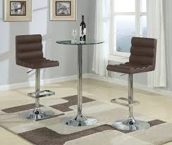 Bar Stool And Table Sets Coaster Fine Furniture 120341 120355 Round Bar Table Set