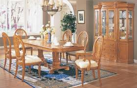 oak dining room set dining table hutch solid oak dining room set light oak dining