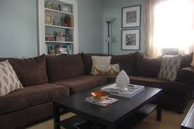 Large Brown Sectional Sofa Interior Brown And Blue Living Room Small Living Room Ideas