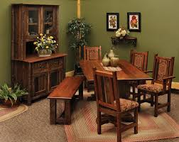 Rustic Dining Room Table And Chairs by Rustic Dining Room And Living Room Interior 16059 Dining Room Ideas