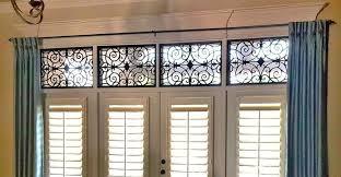ornamental iron faux iron work palmetto window fashions
