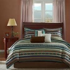 Earth Tone Comforter Sets Veratex Santa Fe Southwestern 4 Piece Comforter Set Free