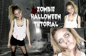easy zombie halloween tutorial last minute idea youtube