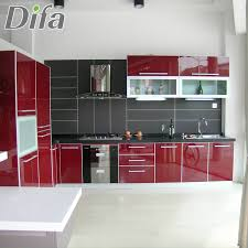 pictures of red kitchen cabinets high gloss red kitchen cabinet high gloss red kitchen cabinet