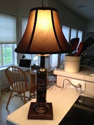 Wine Bottle Light Fixtures Dobbes Wine Bottle Lamp With Base By Don How To Make A Bottle Lamp