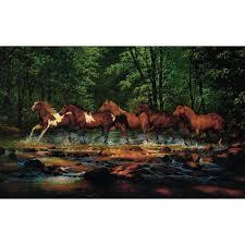 york wallcoverings 15 ft x 9 ft running horses wall mural running horses wall mural
