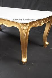 gold leaf coffee table a ritz gold leaf ornate coffee table white marble top french louis