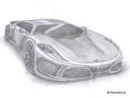 pencil art tk pencil sketches vector graphics ferrari concept car
