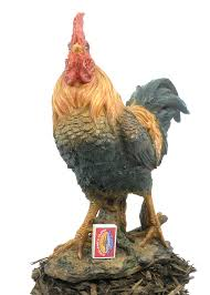 cockerel resin garden ornament 44 99 garden4less uk shop