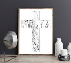 Modern Wall Art Christian Cross Decor Geometric Wall Art Print Scandinavian Modern