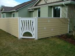 outdoor and patio horizontal wooden home fence designs combined