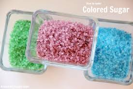 how to make colored sugar around my family table