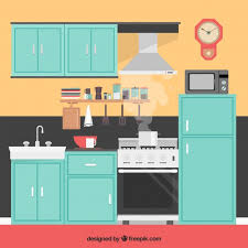 kitchen interior photo kitchen interior illustration vector free