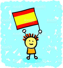 Spain Flags Unique Kid With Spain Flag Cartoon Vector File Free Vector