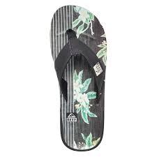 mens reef fanning flip flops sale reef fanning sandals shoes reef ht prints sandals black floral