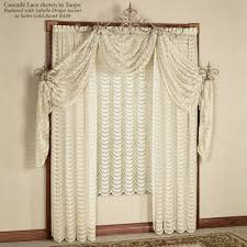 cascade lace panel window treatment