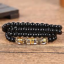 dragon wrap bracelet images Natural obsidian zodiac animal wrap bracelet project yourself jpg