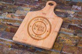 cutting board engraved custom engraved bamboo cutting board personalized circle family