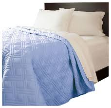 lavish home solid color bed quilt blue contemporary