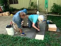 How To Make A Patio Garden How To Make A Tile Patio Youtube
