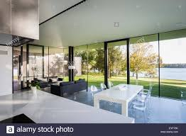 open plan house open plan living area with window walls living garden house in