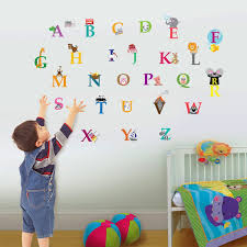 Wallpaper Children Walplus 30x60 Cm Wall Stickers Cute Alphabet London Removable Self