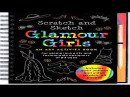 scratch and sketch glamour girls art activity book youtube