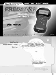 diablosport predator user manual u7146 1998 2004 ford vehicles