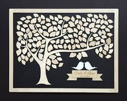 tree signing for wedding framed guest book alternative wood 3d unique guestbook wedding