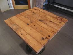 restaurant table reclaimed pine top with round industrial style restaurant table reclaimed pine top with round industrial style base