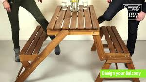 bl059 mybalconia convertible bench picnic table youtube