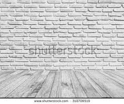 perspective white wood plank floor walk stock photo 310706519