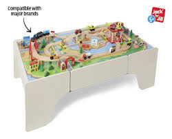 wooden train set table 100pc wooden train set with table aldi australia specials archive