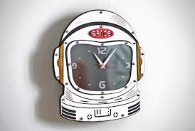 Wooden Wall Clock Buy Astronaut Space Suite Helmet Wooden Wall Clock At Woodandroot