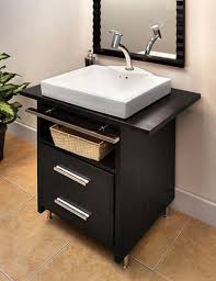 engaging decorating ideas using silver single hole faucets and