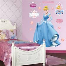 kids bedroom images with beautiful cinderella wallpaper pattern