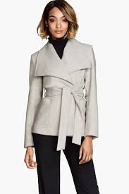 light grey wool coat wool blend jacket light gray sale h m us