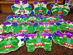 Halloween Crafts For 1st Graders Halloween Activity For K And Maybe 1st Monster Shapes Made From