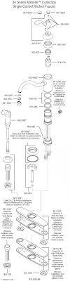 moen kitchen faucets parts diagram moen single handle kitchen faucet parts diagram home design