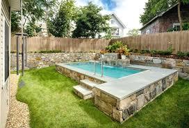 Small Garden Pool Ideas Small Backyard Inground Pool Design Small Home Ideas