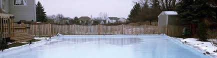 Backyard Rink Liner by Ice Rink Liners Custom Cut Tri Layer Poly Ice Rink Liners