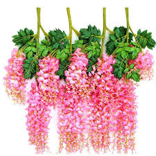aliexpress buy 6pcs artificial flower hanging plant wisteria