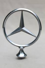 mercedes emblem ornament vintage part saved of an car