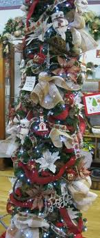 a decorated 7 1 2 foot slim tree think i will buy a