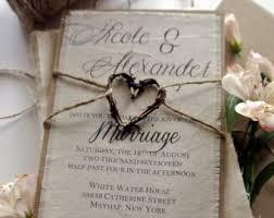 rustic wedding invitations cheap rustic wedding invitation etsy amulette jewelry