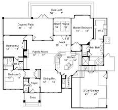 popular house floor plans country one story house plan